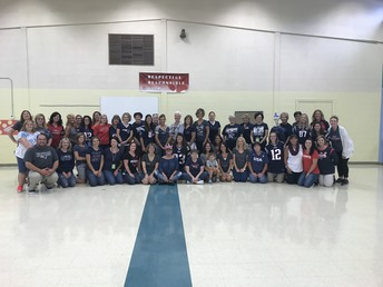 Patriots' Spirit Day Staff Photo!