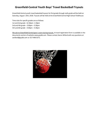 GC Youth Boys Basketball Tryouts