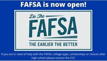 Contact the CCC for FASFA Help