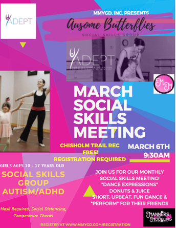 Ausome Butterflies Social Skills Group for Girls