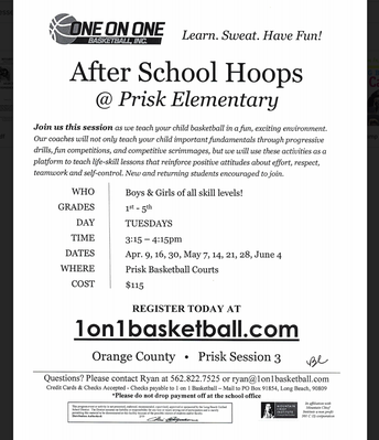 After-School Hoops Begins April 9th