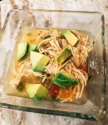 Chicken 🐓 Avocado 🥑 Lime 🍈 Soup 🥣