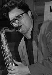 Derek playing the saxophone