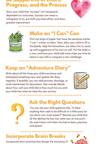 Complete these family activities to help your child develop a growth mindset