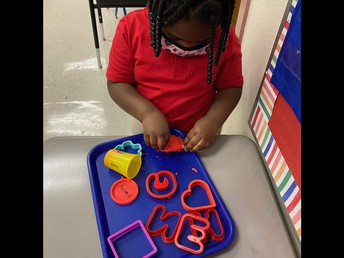 Play-doh Letter Practice
