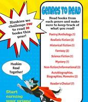 20 Book Challenge - Let's Read More, Huskies!