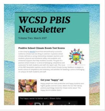 2016-17 Winter Newsletter: Positive School Climate