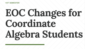 Coordinate Algebra EOC moved to March