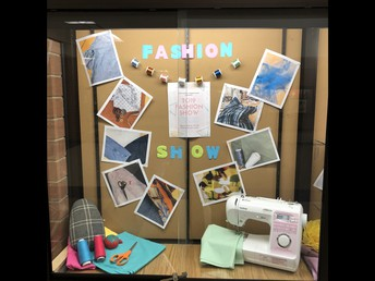 UHS Fashion Show display...show will be May 22
