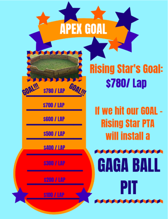 What is the Apex Fun Run Goal?