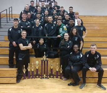 Brenham High School MCJROTC begins drill competition season with strong start