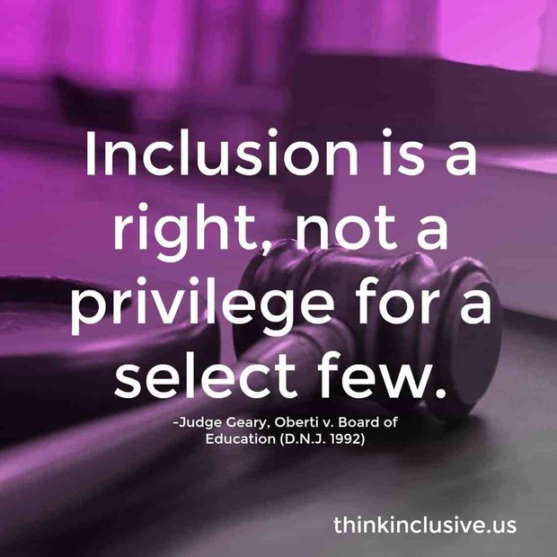 Inclusion is a right, not a privilege for a select few