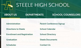 Steele Website- About Us Tab