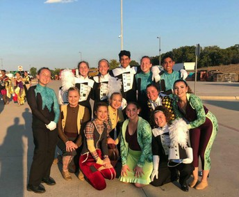 Hays CISD representing at Vista Ridge Marching Festival!
