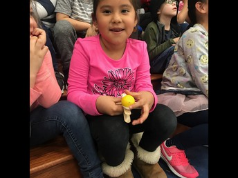 We are proud of Thelma, our Kindergarten catapult winner!