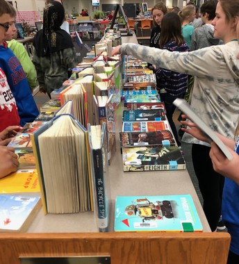 Book Buffet & Book Tastings in the Media Center