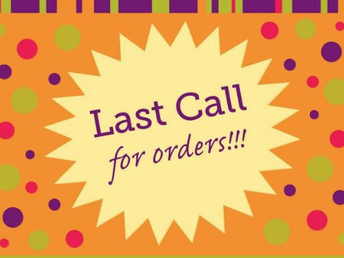Last Call for Orders for Fall Fundraiser: See Information Below!