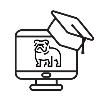 Bulldog in a computer