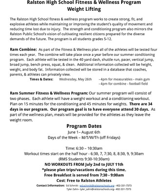 RHS Fitness & Wellness - Weight Lifting