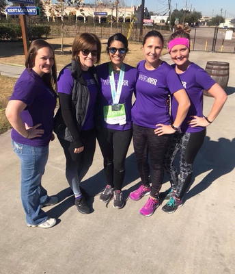 Angela and Rachel completed the Aramco 1/2 Marathon!!!