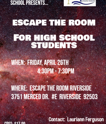 Escape the Room! For High School Students!