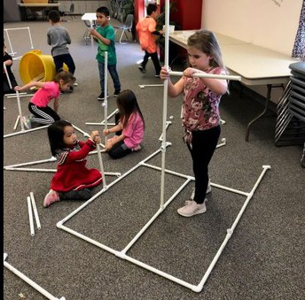 Kinder Enjoys Designing and Constructing Structures
