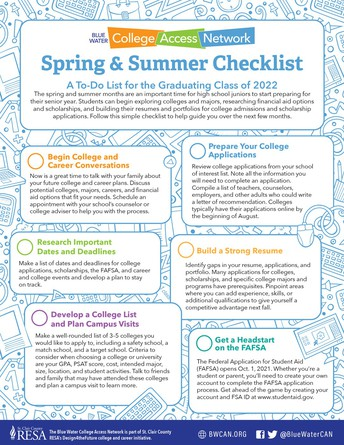 Spring & Summer Checklist: A To-Do List for the Graduating Class of 2022