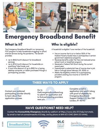 Emergency Broadband (Internet) Benefits