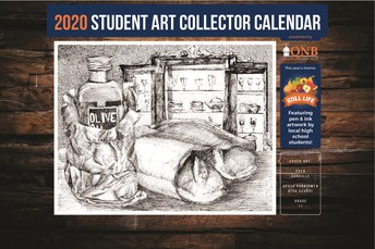 HS students artwork displayed on QNB Calendar