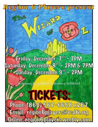 The Wizard of Oz - Dec. 7, 8, 9