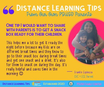 Distance Learning Parent Tips from PSUSD Parents