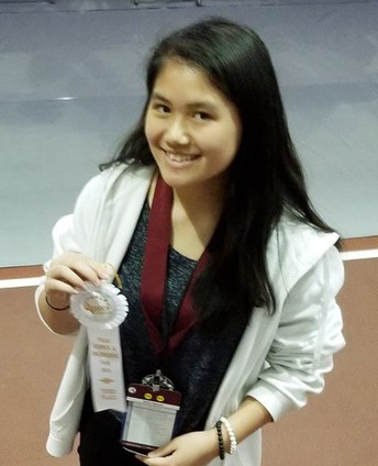 Killough Middle School student Kathy Nguyen placed third in the Texas Science and Engineering Fair at Texas A&M University.