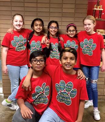 Fourth grade Destination Imagination (DI) Team
