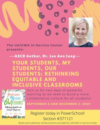 Rescheduled Training with Dr. Lee Ann Jung! Don't miss this opportunity! September 8 and December 2, 2020