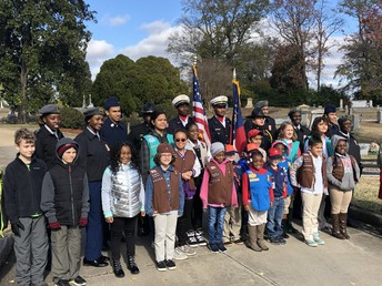 Central High's Army JROTC Unit Served At The Macon-Bibb Co. Annual Wreaths Across America Ceremony