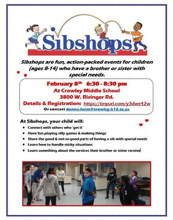 Sibshop - Back in Person!