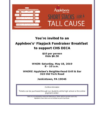 CHS DECA Fundraiser | Applebee's