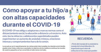 Cómo apoyar a tu higo/a con altas durante el COVID-19