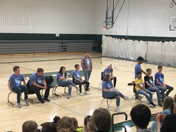 Improv performs for Eighth Grade Students