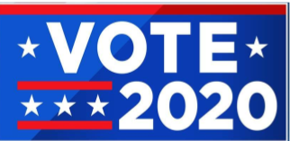 Vote 2020 with stars & stripes