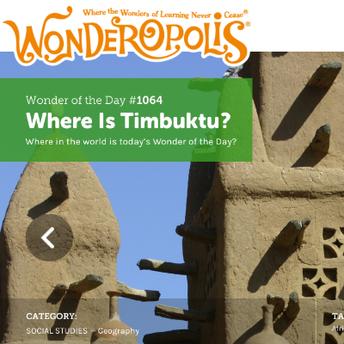 Wonderopolis screenshot