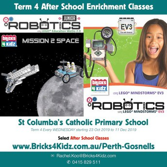 Bricks4Kidz Term 4 after School at St Columba's