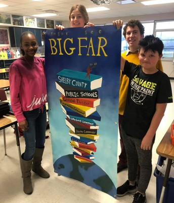 Mr. Zach Hypes and Art Club Make Banner for KSBA Conference