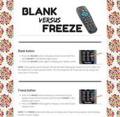 Blank versus Freeze
