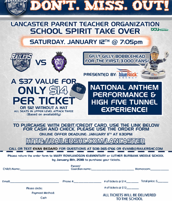 PTO - Worcester Railers Event