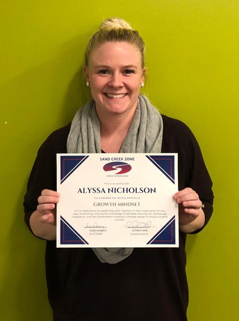 Alyssa Nicholson - Zone Pillar Recognition