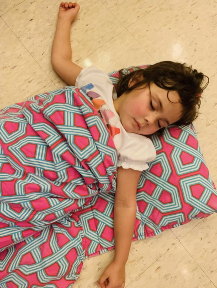 Kindergarten girl sleeping at rest time at CCPS