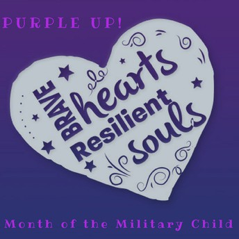 """""""Purple Up! For Military Kids"""""""