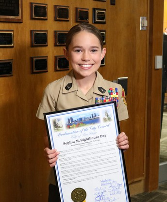 """Sophia M. Righthouse Day"" in the City of San Diego"