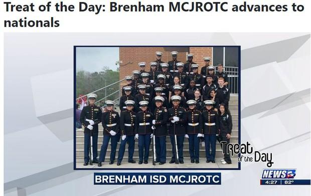 Brenham MCJROTC advances to nationals